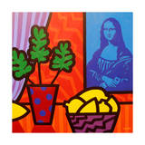 Still Life with Matisse and Mona Lisa Impression giclée par John Nolan