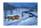Cabaña invernal Lámina giclée por Jeff Tift