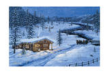 Winter Cabin Giclee Print by Jeff Tift