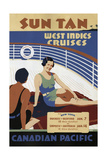 West Indies Cruises Giclee Print