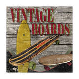 Vintage Boards II Giclee Print by Karen Williams