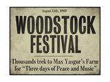 Festival Woodstock, 1969 (text vangličtině) Digitálně vytištěná reprodukce
