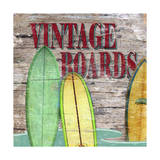 Vintage Boards III Giclee Print by Karen Williams