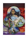 Sky Woman Giclee Print by Sue Clyne