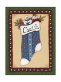 Stocking I Cherish Giclee Print by Debbie McMaster