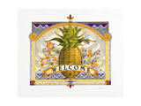 Welcome Pineapple Giclee Print by David Galchutt