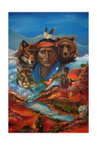 Spirit Guide Whispers Giclee Print by Sue Clyne
