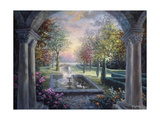 Soulful Mediterranean Tranquility Giclée-tryk af Nicky Boehme
