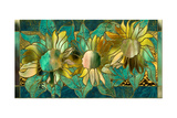 Verdigris Sunflower Giclee Print by Mindy Sommers