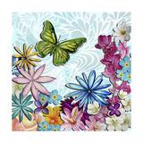 Whimsical Floral Collage 3-2 Impressão giclée por Megan Aroon Duncanson