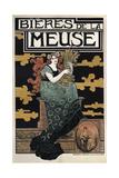 1896 Bieres de La Meuse Giclee Print
