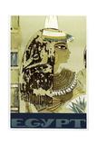Visit Egypt Cleopatra Giclée-tryk