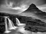 3 Waterfalls BW Photographic Print by Moises Levy