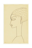 Amedeo Modigliani - Woman in Profile Giclee Print
