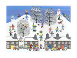 Winter Town Giclee Print by Gordon Barker