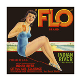 """FLO"" Brand Citrus Giclee Print"