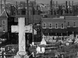 Bethlehem Graveyard and Steel Mill Photographic Print