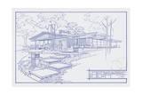 301 Cypress Dr. Blueprint Reproduction procédé giclée par Larry Hunter