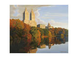 Autumn in Central Park Giclee Print by John Zaccheo