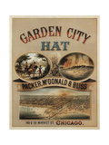 1878 Garden City Hat Gicleetryck