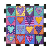 16 Heart Giclee Print by Carla Bank