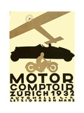 Zurich Cars Giclee Print