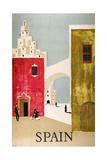 Vintage Travel to Spain Giclee-trykk