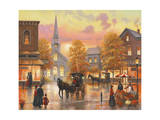 Autumnal Breeze in Pleasantville Giclee Print by John Zaccheo