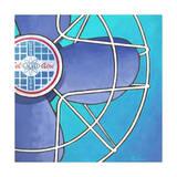 Bel-Aire Fan - Aqua Giclee Print by Larry Hunter