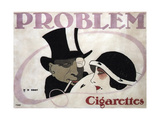 1912 Germany Problem Cigarettes Couple Giclee Print