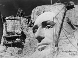 Abraham Lincoln on Mount Rushmore Photographic Print