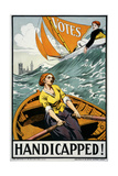 Women's Suffrage, Handicapped, London! Giclee Print