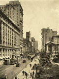 42nd Street East from 6th Avenue Photographic Print