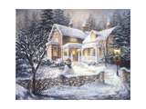 Winter's Welcome Giclee Print by Nicky Boehme