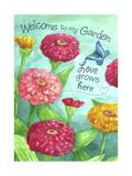 Zinnia Welcome Love Giclee Print by Melinda Hipsher