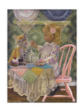 A Friend for Tea Giclee Print by Tricia Reilly-Matthews