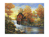 Autumn Sunset at the Old Mill Giclee Print by John Zaccheo