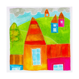 A Group of Houses Giclee Print