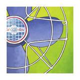 Bel-Aire Fan - Green Giclee Print by Larry Hunter