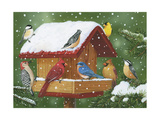 Backyard Birds, Holiday Treats Giclee Print by William Vanderdasson
