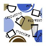 Abstract Coffee Cups Giclee Print