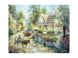 A Country Greeting Giclee Print by Nicky Boehme