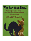 Why Bow Your Back? Giclée-tryk