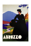 Abruzzo-Blackdress Giclee Print
