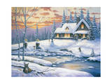 Winter Retreat Giclee Print by John Zaccheo