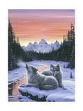 Winter's Dawn Reproduction procédé giclée par Jeff Tift