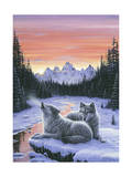 Winter's Dawn Lámina giclée por Jeff Tift
