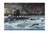 Along the Yellowstone - Grizzly Giclee Print by Wilhelm Goebel