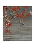 Autumn Harvest - Cedar Waxwing Giclee Print by Wilhelm Goebel