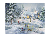 A Fine Winter's Eve Giclee Print by Nicky Boehme